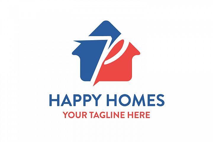 P letter house logo