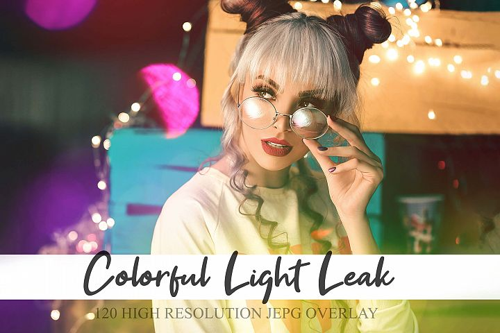 120 Colorful Light Leak, Photoshop Effect