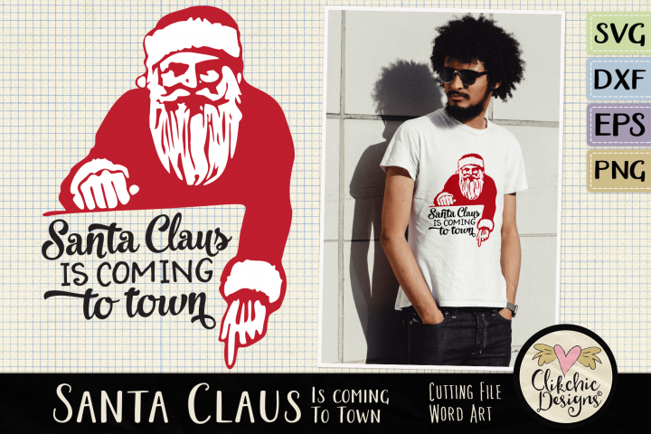 Christmas SVG - Santa Claus Word Art & Vector Clipart