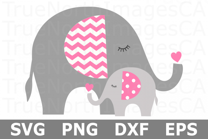 Mom and Baby Elephant Hug - An Animal SVG Cut File