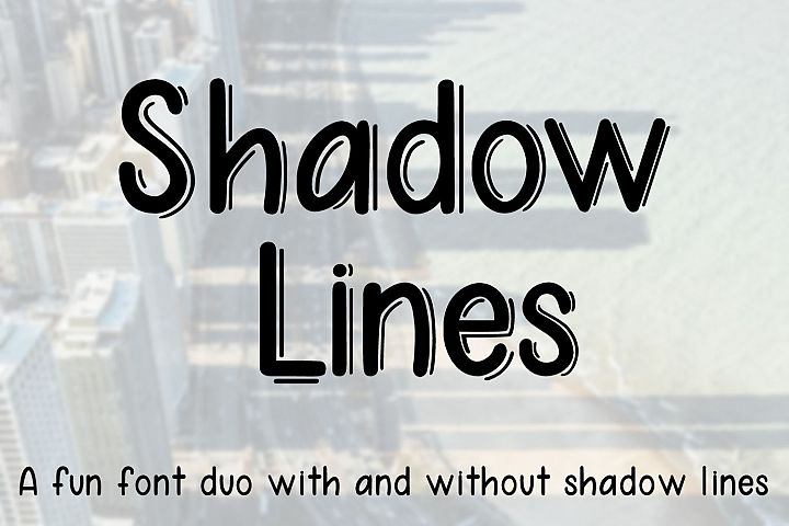 Shadow Lines - A fun font duo with and without shadow lines - Free Font of The Week Font
