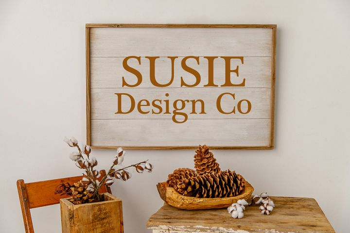 Fall Farmhouse Large Wall Sign Mock Up