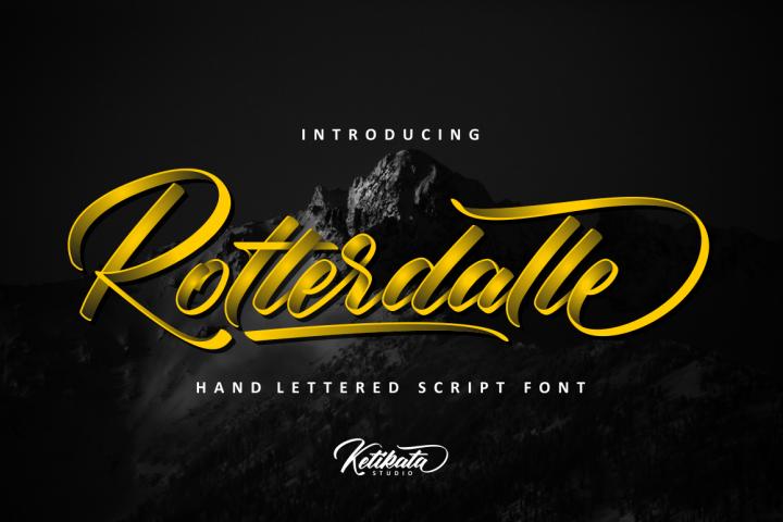 Rotterdalle Hand Lettered Script