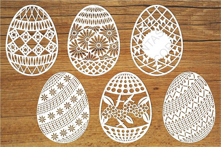 Easter Eggs set 2 SVG files for Silhouette and Cricut.