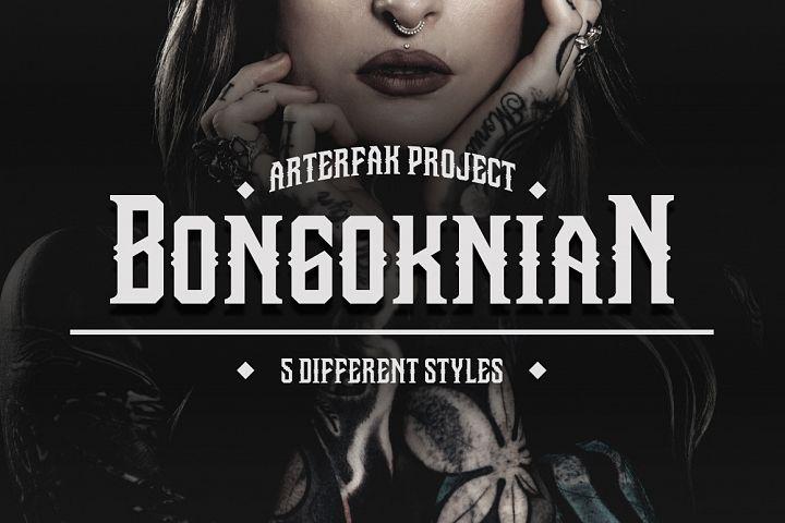 Bongoknian Typeface