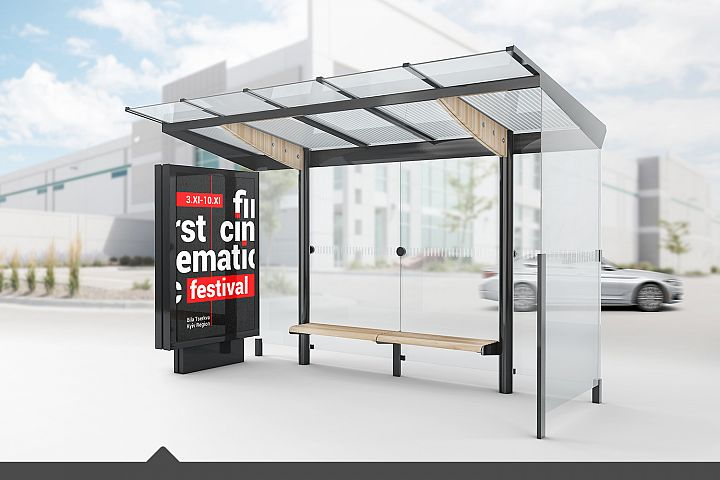 Bus Stop Lightbox Mockup