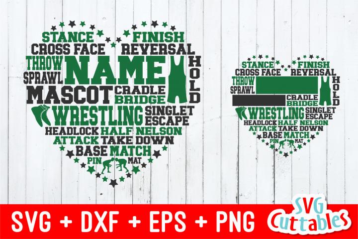 Wrestling Heart Subway Art   Cut File