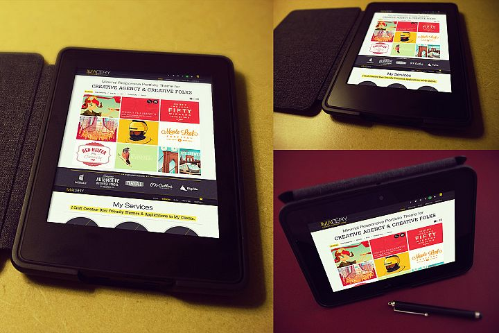 Retro Tablet Mockup Templates