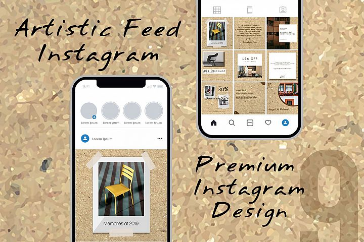Artistic Paper Instagram Feed Design