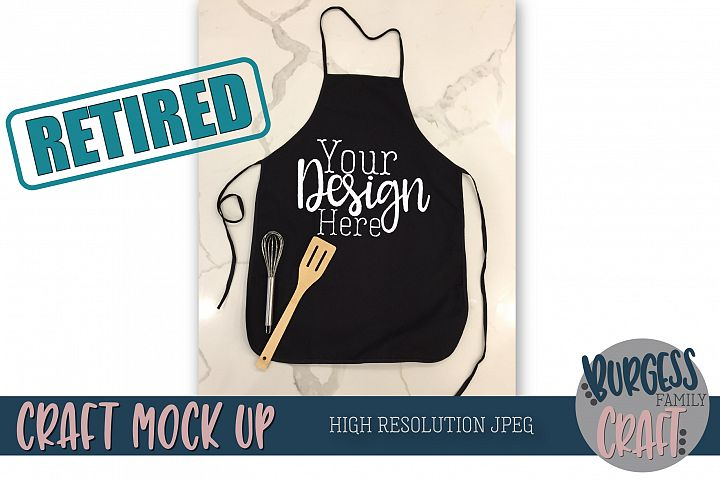 Black apron Craft Mock up |High Resolution JPEG