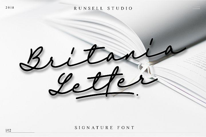 Britania Letter Signature Script