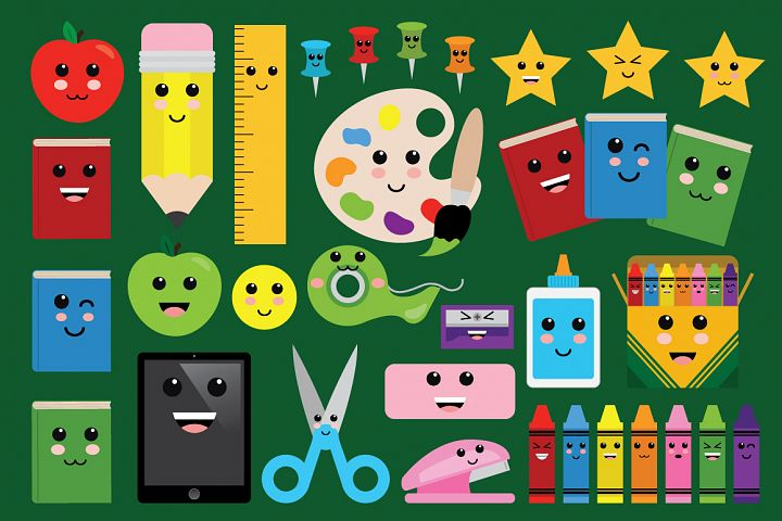 Cute Classroom Back To School Clip Art Set