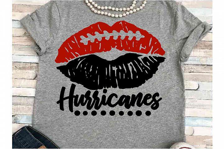 Football SVG DXF JPEG Silhouette Cameo Cricut Hurricanes lip