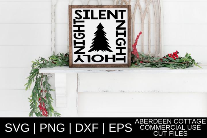 Silent Night Holy Night SVG Design