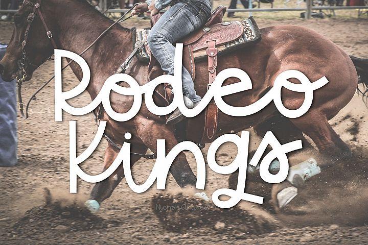 Rodeo Kings - A Handwritten Sriptish Font