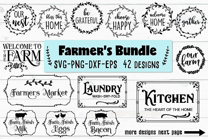 Farmers Bundle - SVG, PNG, EPS, DXF