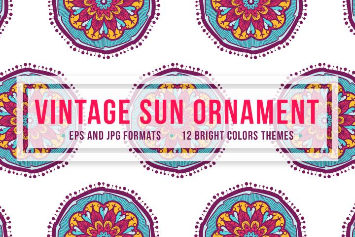 Vintage Sun Ornament