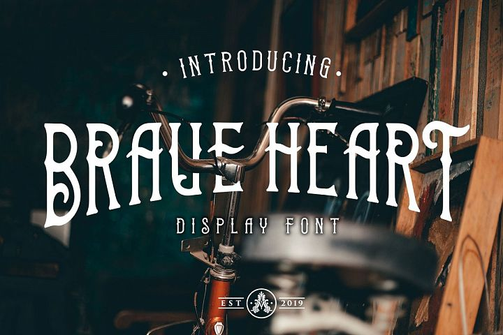 Brave Heart Display Font