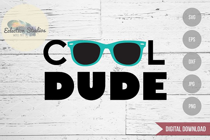 Cool Dude Sunglasses SVG