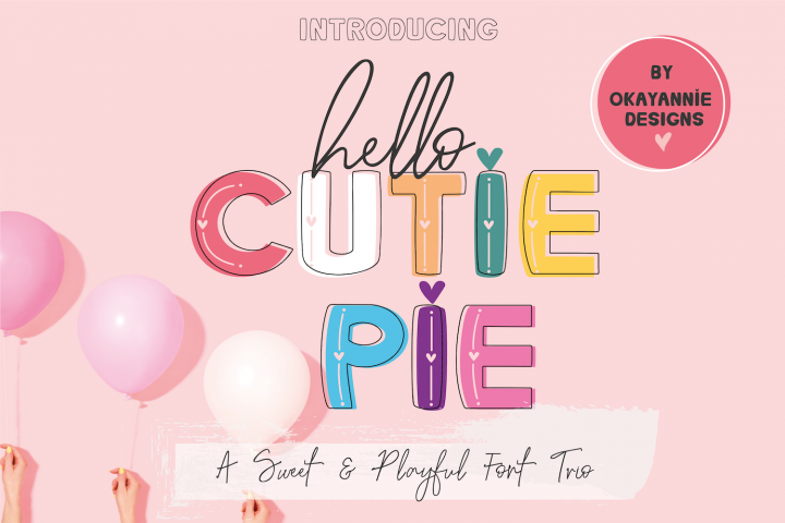 Hello Cutie Pie Font Collection