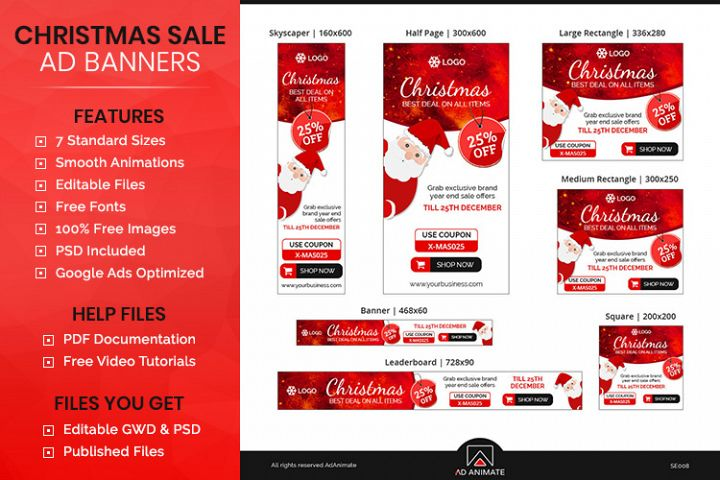 Christmas Sale Animated Ad Banner Template