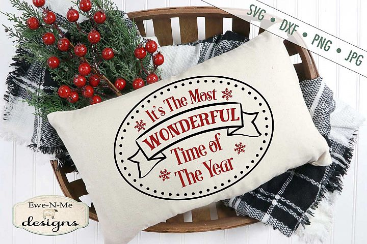 Most Wonderful Time - Christmas - SVG DXF Files