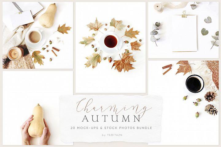 20 Charming autumn mockups & stock photo bundle