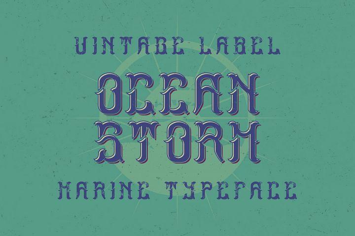 Ocean Storm label font