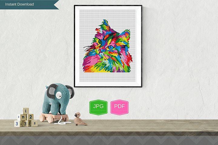 Cat pop art printable wall art, Animals design printable art