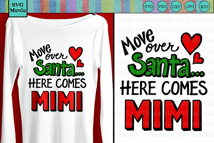 SVG File Christmas Mimi Saying, Funny Mimi SVG. Holiday SVG