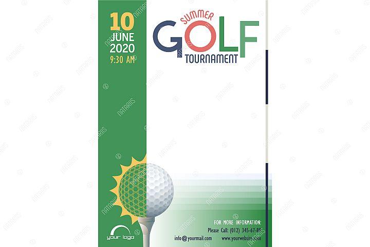 Summer Golf Tournament poster template.