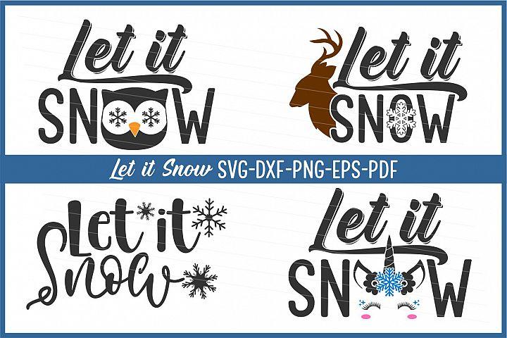 let it snow svg, snowflake, winter svg, svg cut file, dxf