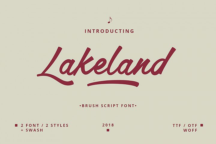 Lakeland Brush font