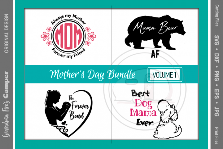 Mothers Day SVG Bundle, Vol 1