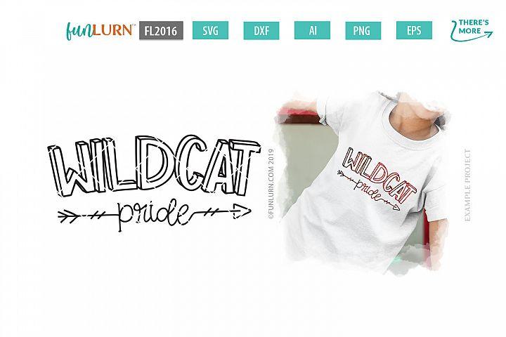 Wildcat Pride Team SVG Cut File