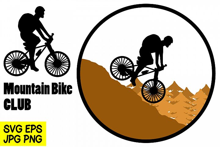 Mountain Bike - SVG/EPS/JPG/PNG Hand Drawing