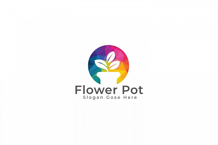 Flower Pot logo design.