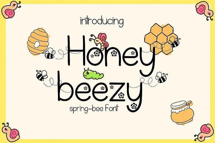 Honey Beezy - Spring Bee Font
