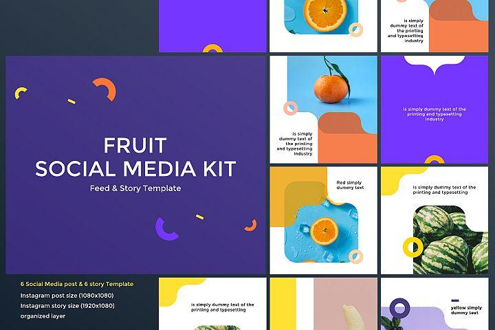 Fruit Social Media Kit 01