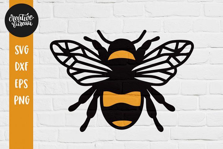 Bee Illustration SVG DXF Cut File