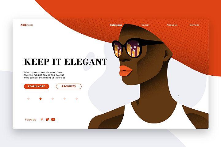 Elegant - Banner & Landing Page