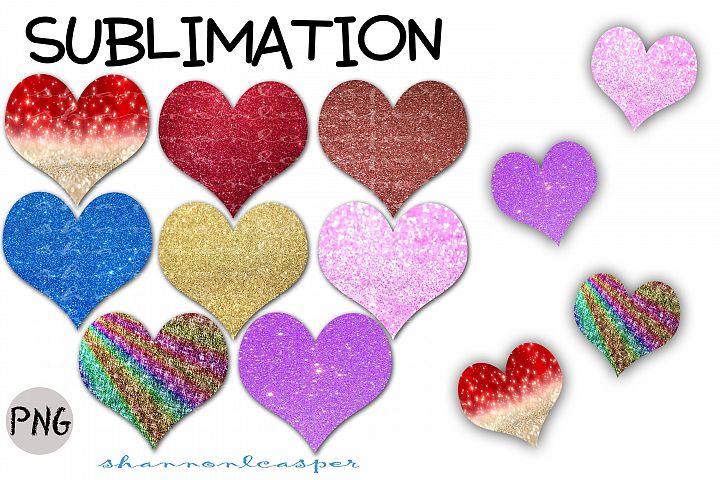 Glitter Hearts| Sublimation File