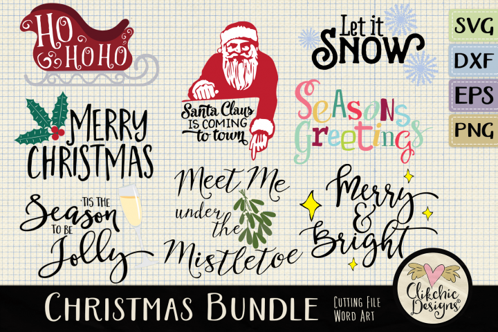 Christmas SVG Bundle - Christmas Word Art & Vector Clipart