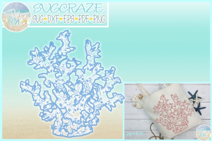 Coral Reef Mandala Zentangle SVG Dxf Eps Png PDF
