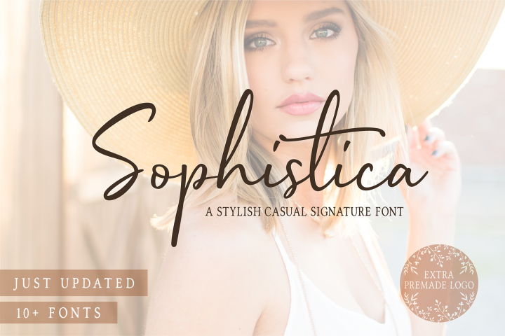 Sophistica - 10+ Fonts & Extras