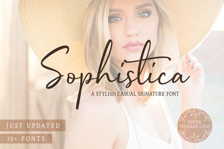 Sophistica - 10+ Fonts & Extras