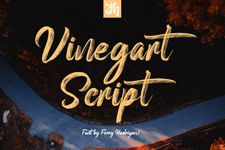 Vinegart - Handwritten Font