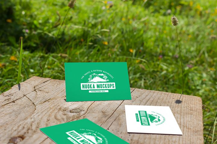 Business cards mockup 08| Travel Mockup Collection Set 1