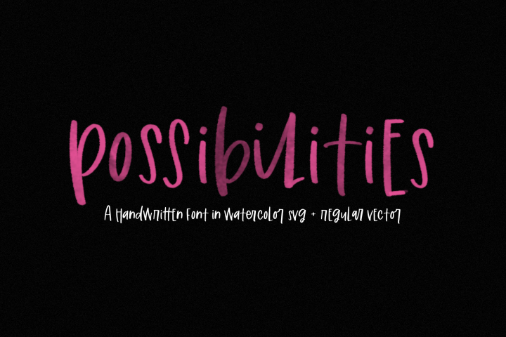 Possibilities - A Fun Handwritten Font