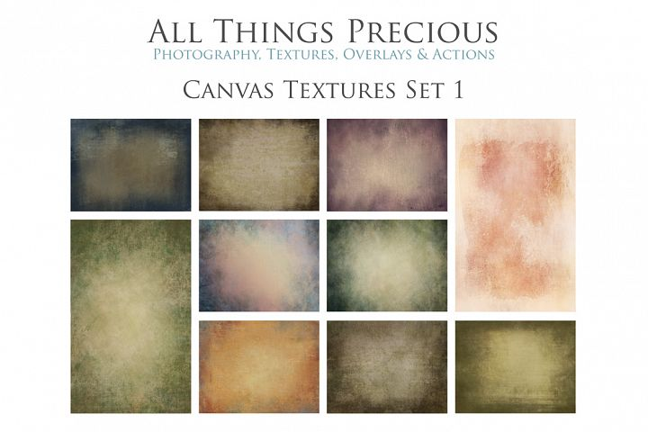 10 Fine Art Textures CANVAS - SET 1
